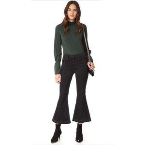 FRAME  Le Crop Bell Jeans  Black Size 24